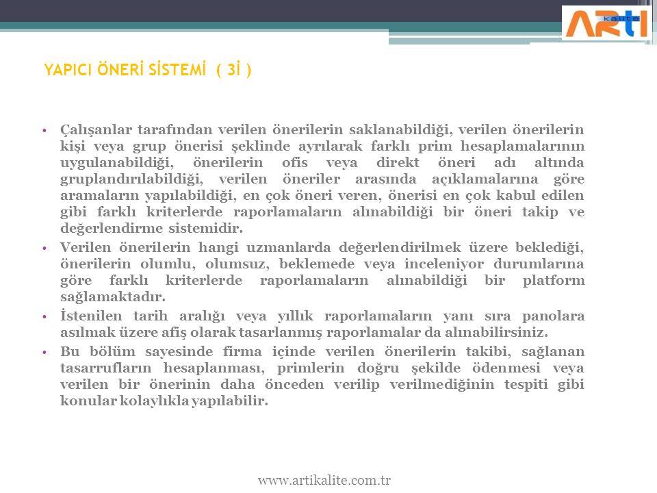 YAPICI ÖNERİ SİSTEMİ ( 3İ )