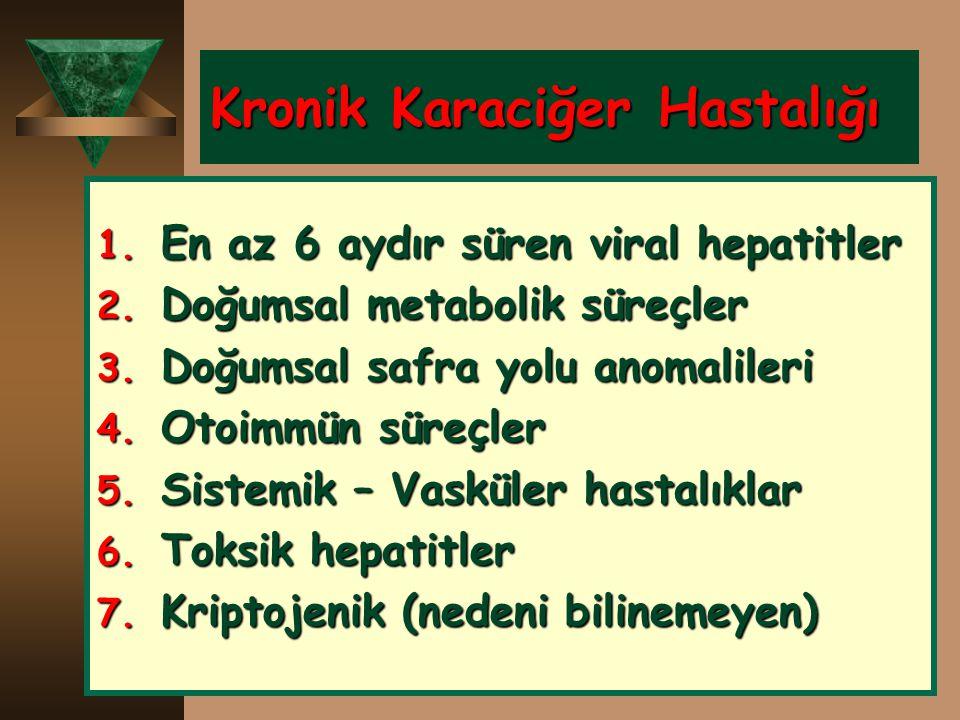 Kronik Karaciğer Hastalığı