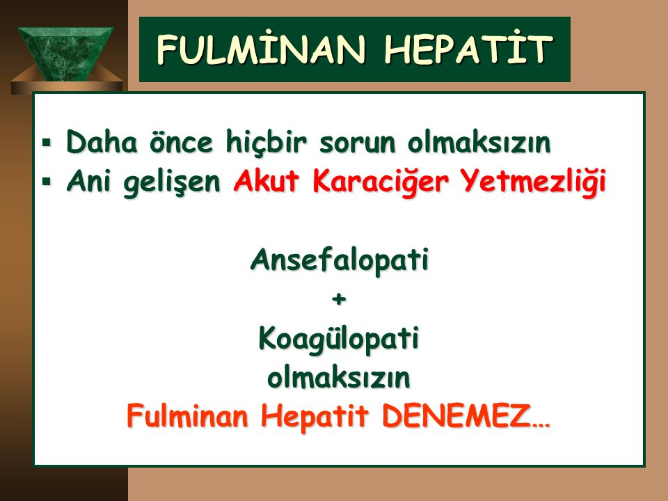 Fulminan Hepatit DENEMEZ…