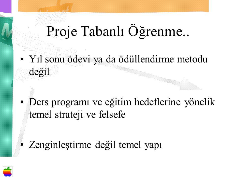 Proje Tabanlı Öğrenme.. Yıl sonu ödevi ya da ödüllendirme metodu değil