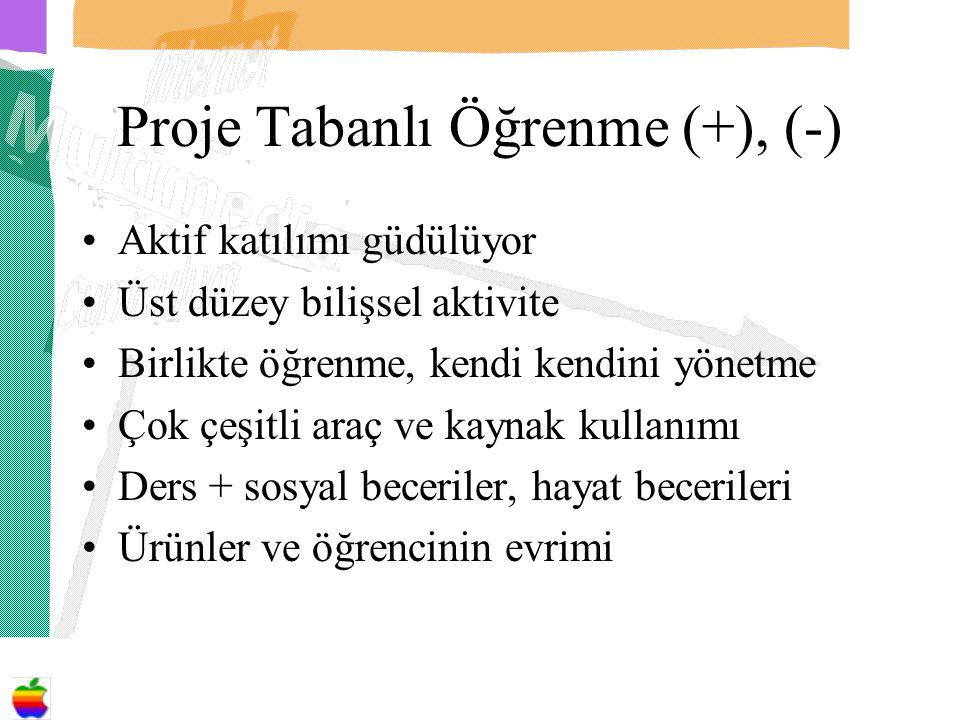 Proje Tabanlı Öğrenme (+), (-)