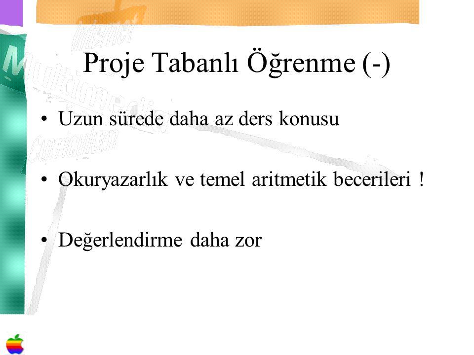 Proje Tabanlı Öğrenme (-)
