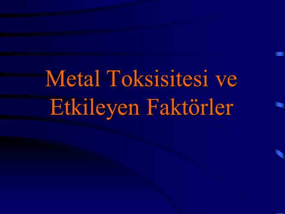 Metal Toksisitesi ve Etkileyen Faktörler