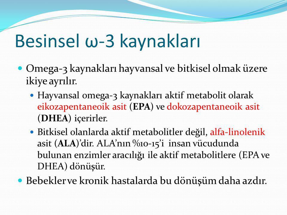 Besinsel ω-3 kaynakları