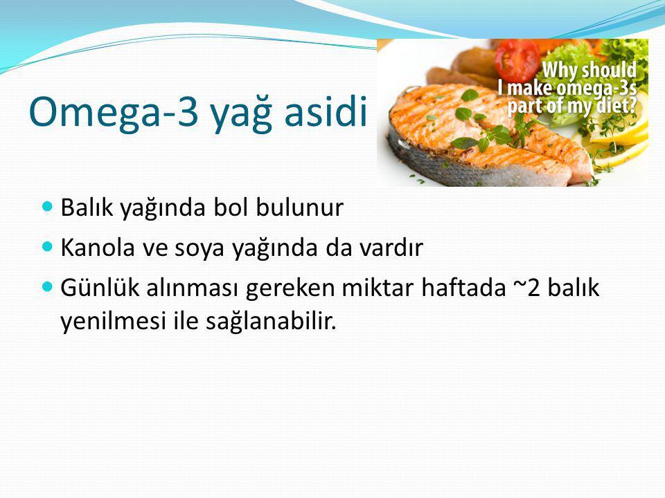 Omega-3 yağ asidi Balık yağında bol bulunur