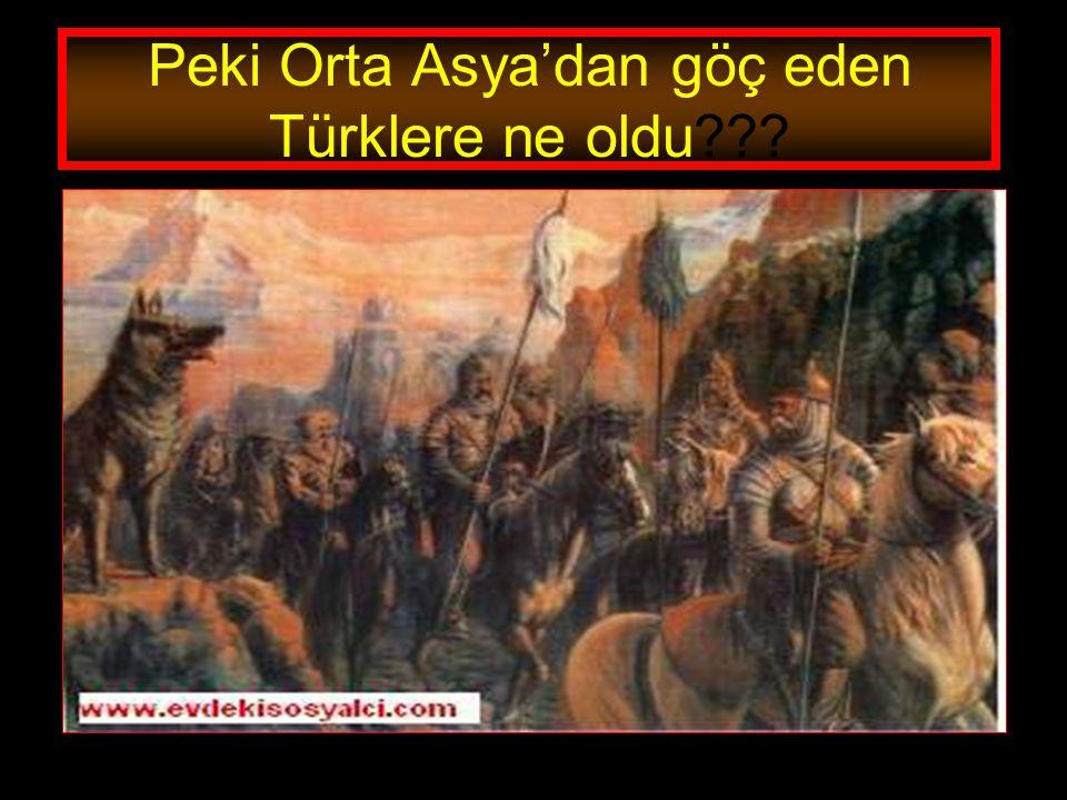 Peki Orta Asya'dan göç eden Türklere ne oldu