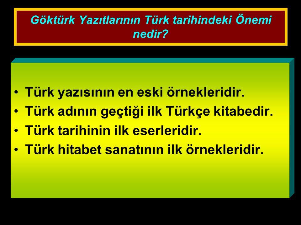 Göktürk Yazıtlarının Türk tarihindeki Önemi nedir