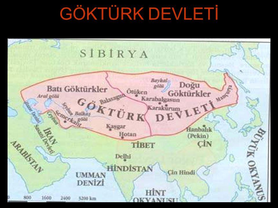 GÖKTÜRK DEVLETİ 552 de Avarlar a karşı isyan ederek, Bumin Kağan önderliğinde Ötügen merkez olmak üzere kuruldu.