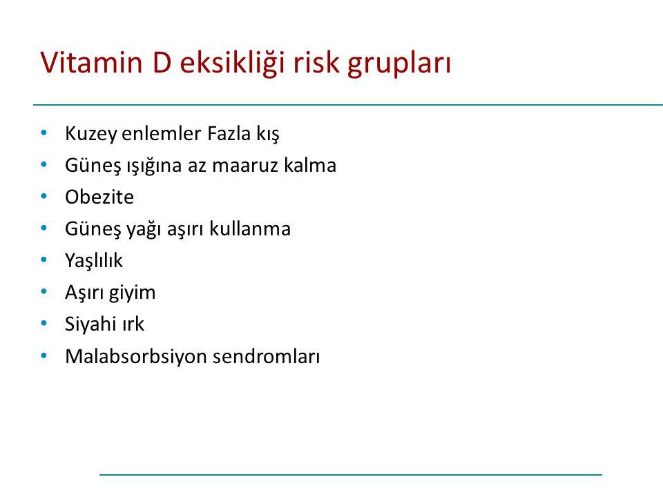 Vitamin D eksikliği risk grupları