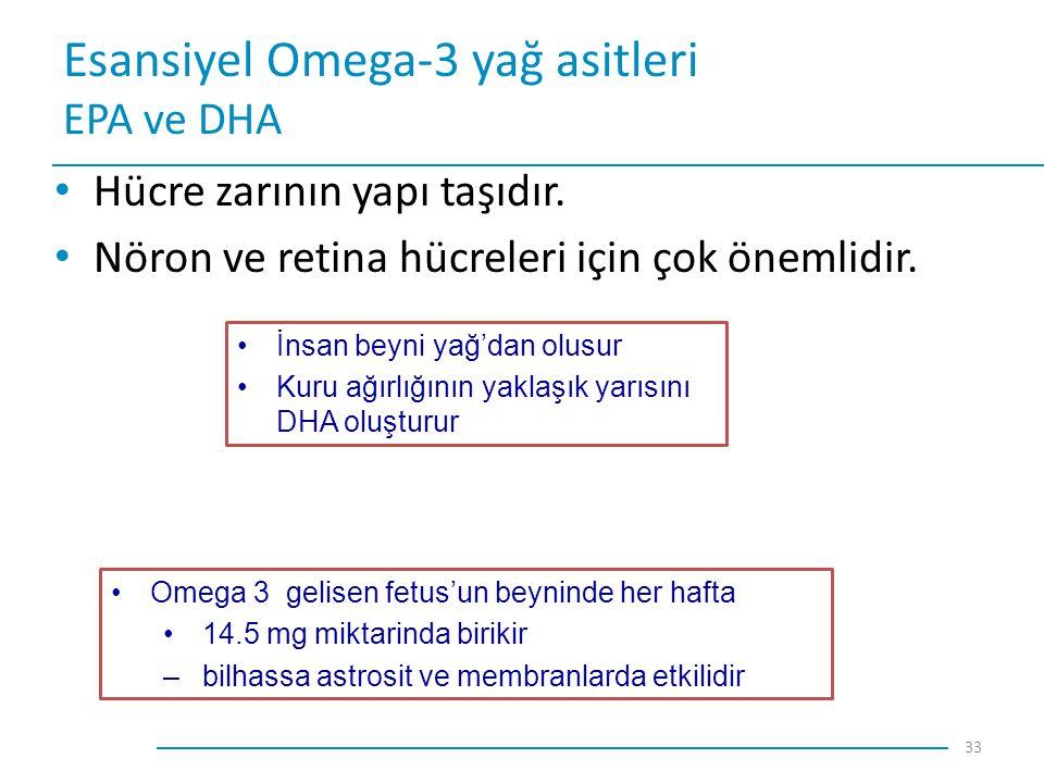 Esansiyel Omega-3 yağ asitleri EPA ve DHA