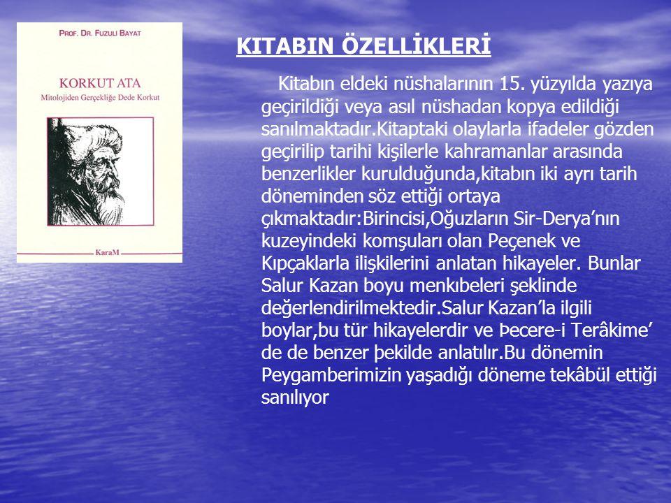 KITABIN ÖZELLİKLERİ
