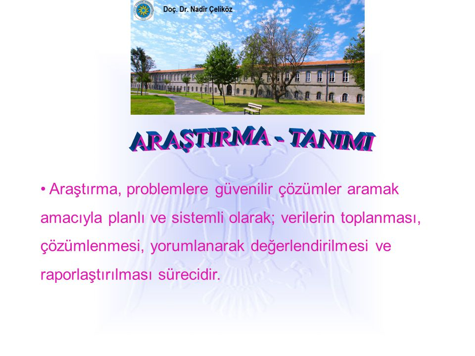 ARAŞTIRMA - TANIMI
