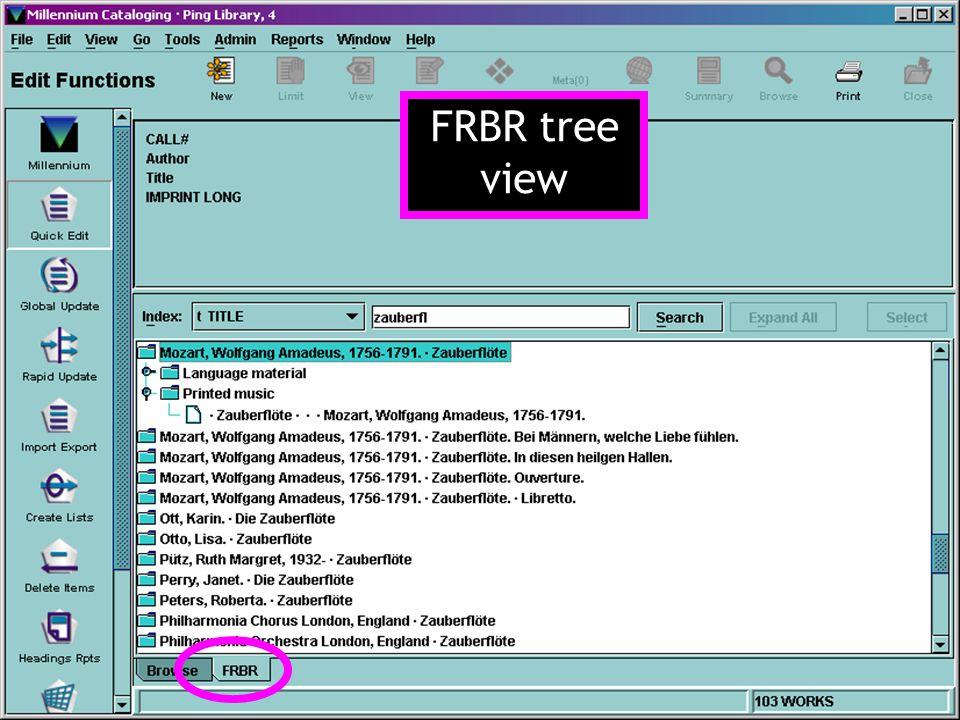 FRBR tree view