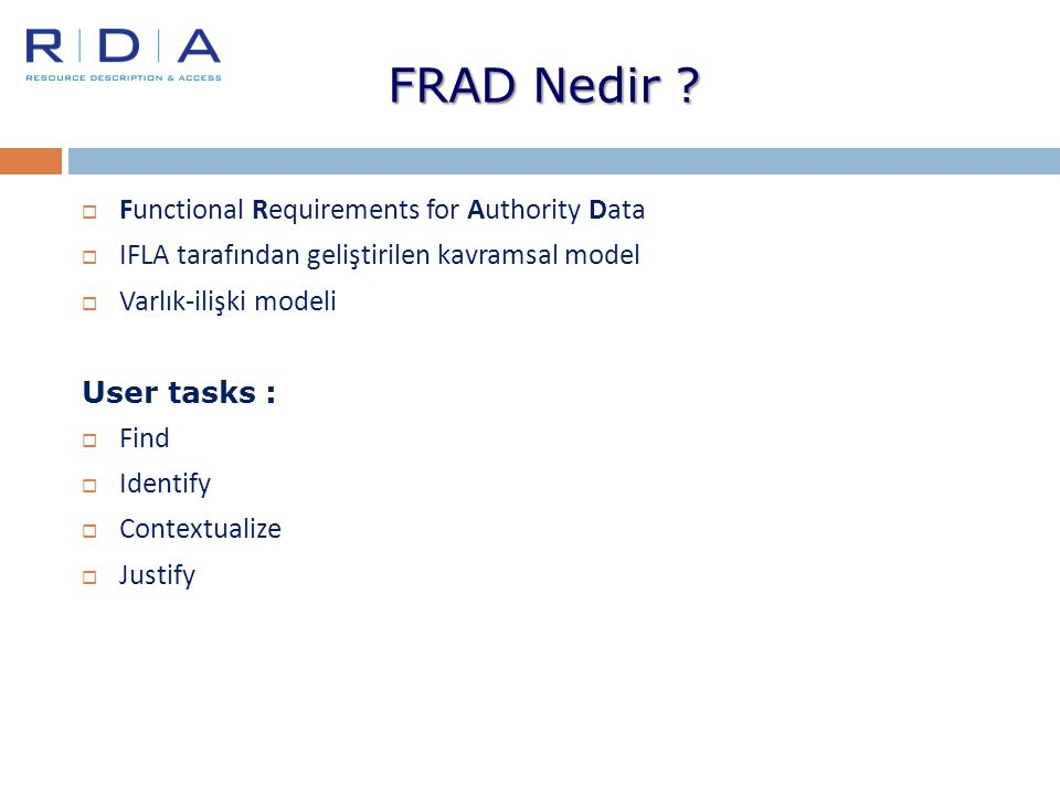FRAD Nedir Functional Requirements for Authority Data
