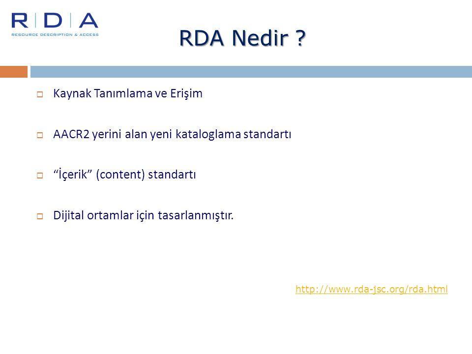 RDA Nedir Kaynak Tanımlama ve Erişim