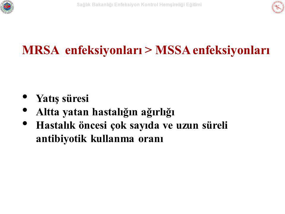 MRSA enfeksiyonları > MSSA enfeksiyonları