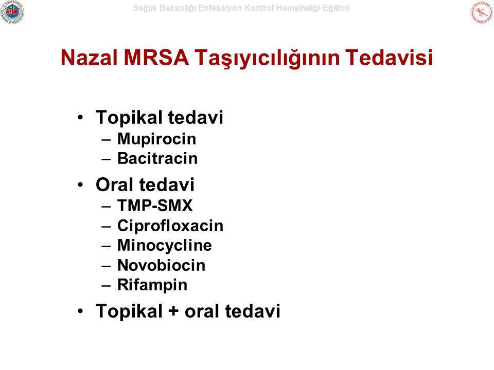 Nazal MRSA Taşıyıcılığının Tedavisi