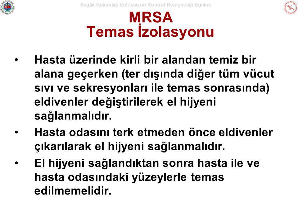 MRSA Temas İzolasyonu