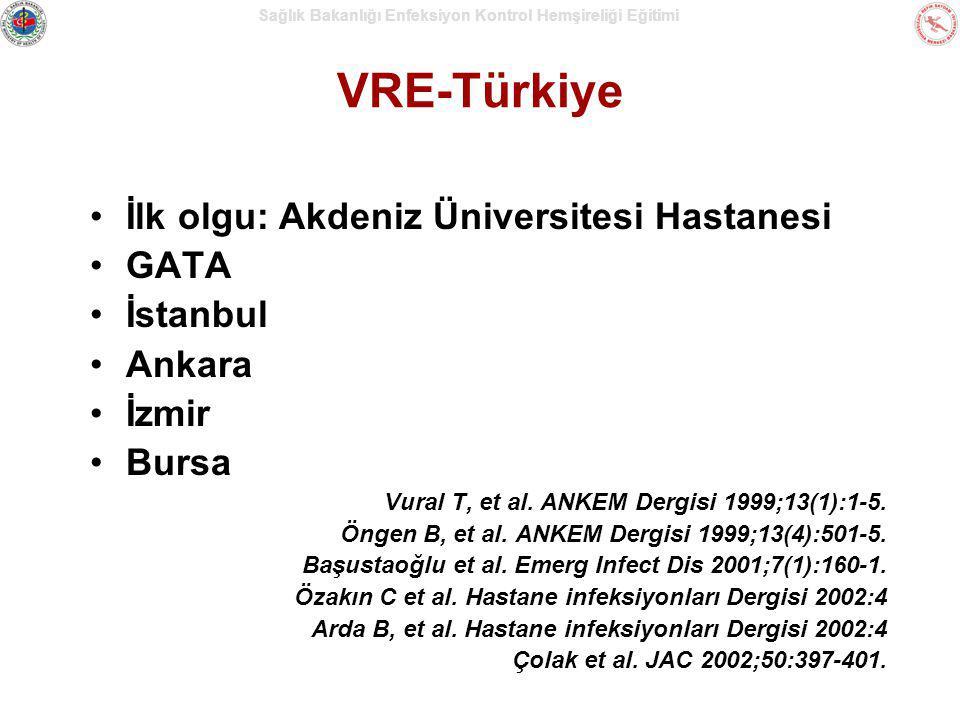 VRE-Türkiye İlk olgu: Akdeniz Üniversitesi Hastanesi GATA İstanbul