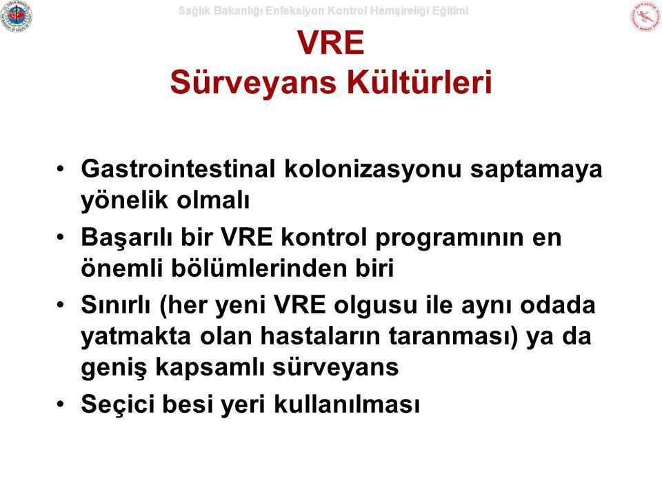 VRE Sürveyans Kültürleri