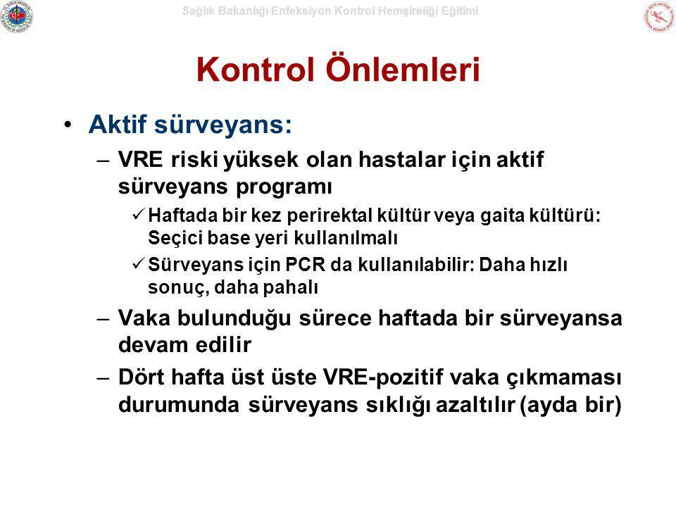 Kontrol Önlemleri Aktif sürveyans: