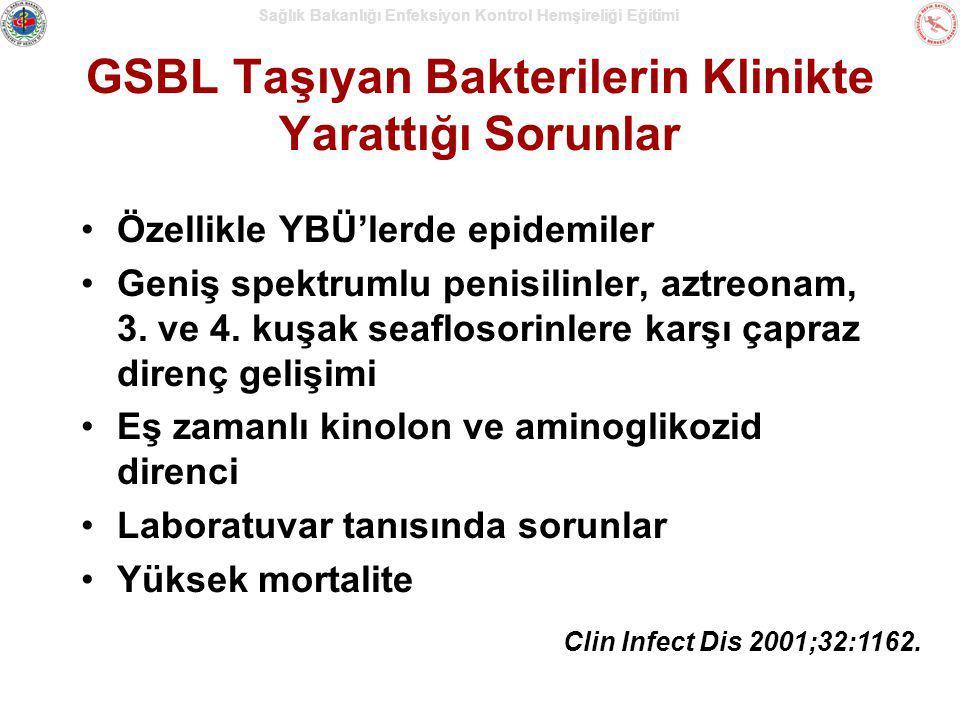 GSBL Taşıyan Bakterilerin Klinikte Yarattığı Sorunlar