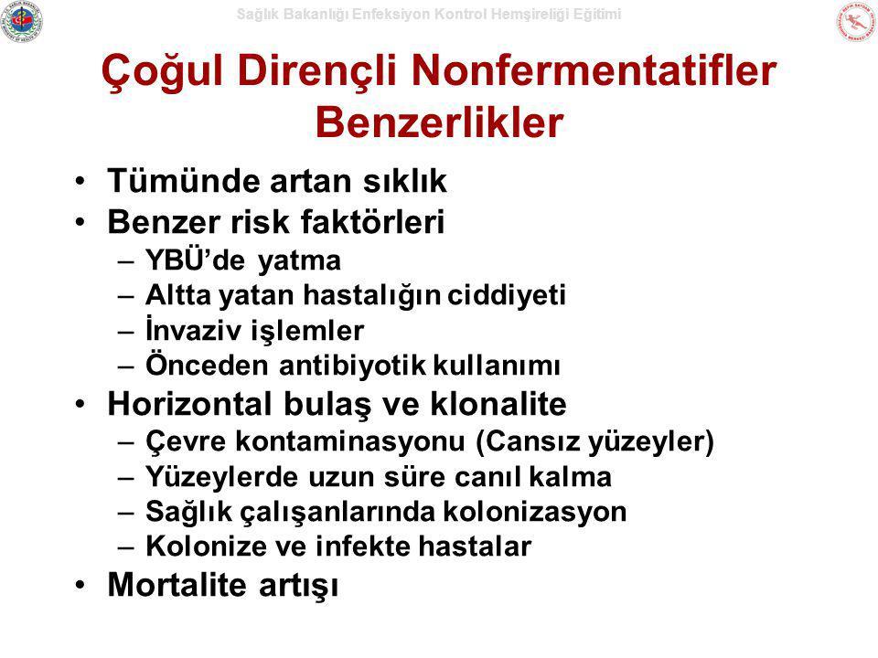 Çoğul Dirençli Nonfermentatifler Benzerlikler