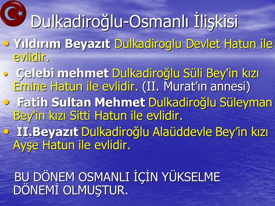 Dulkadiroğlu-Osmanlı İlişkisi