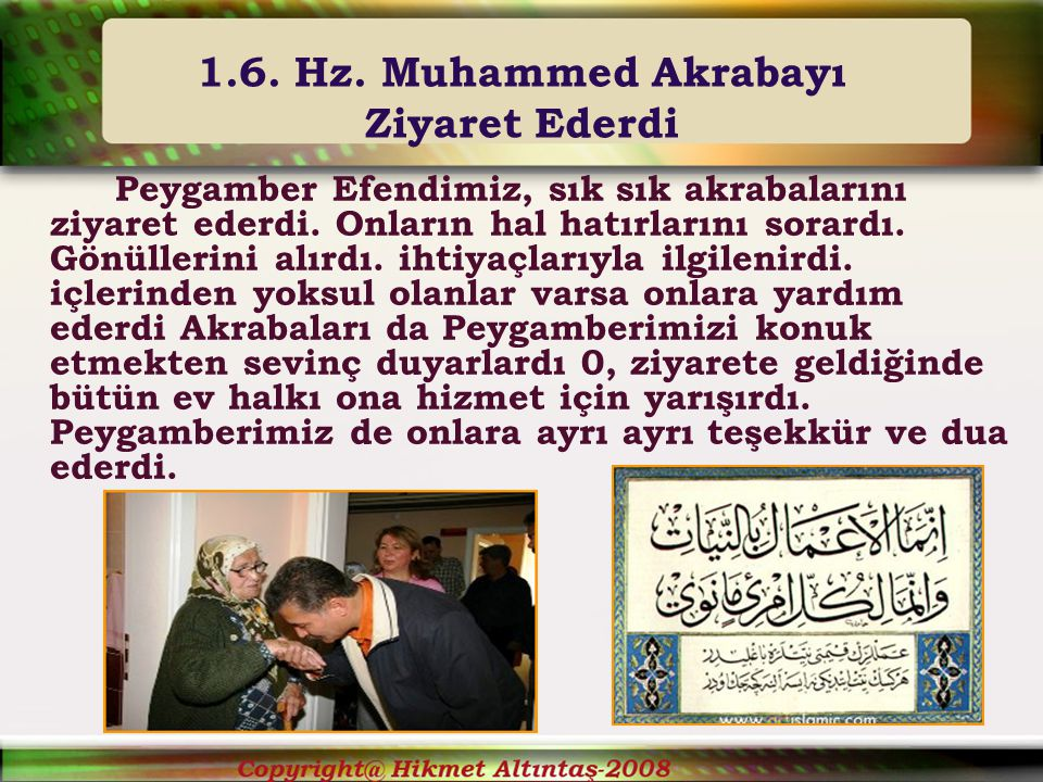 1.6. Hz. Muhammed Akrabayı Ziyaret Ederdi