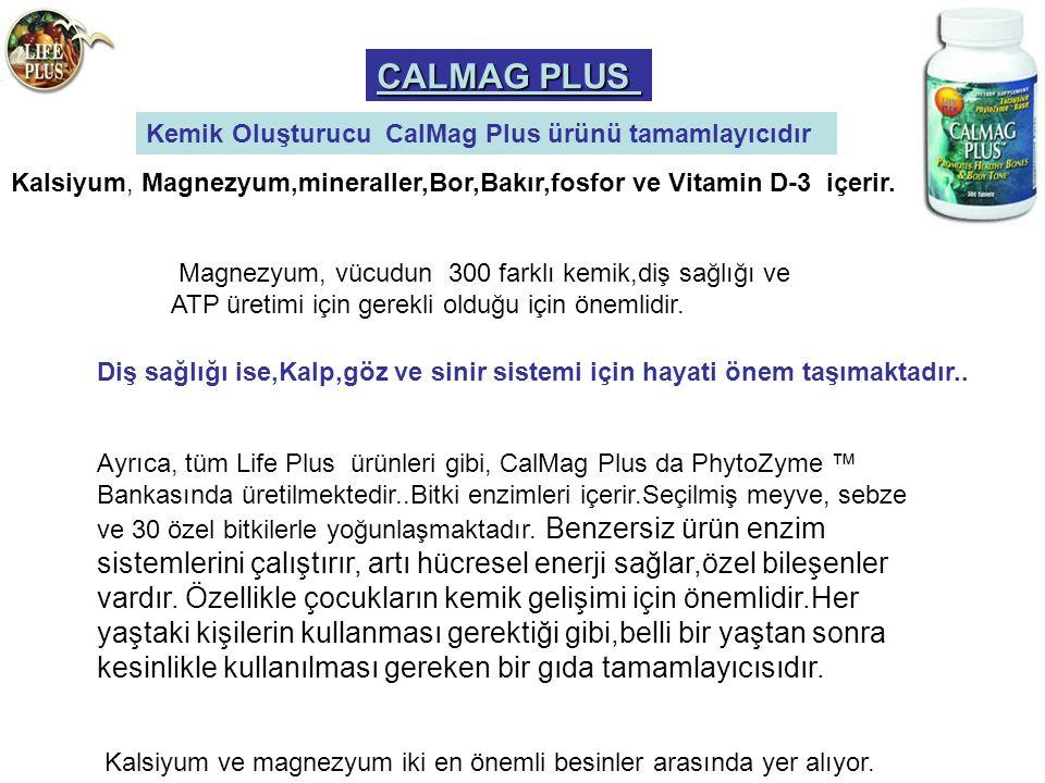 CALMAG PLUS Kemik Oluşturucu CalMag Plus ürünü tamamlayıcıdır