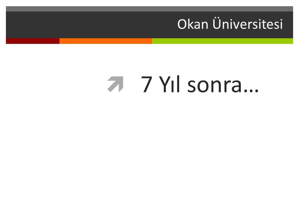 Okan Üniversitesi 7 Yıl sonra… 