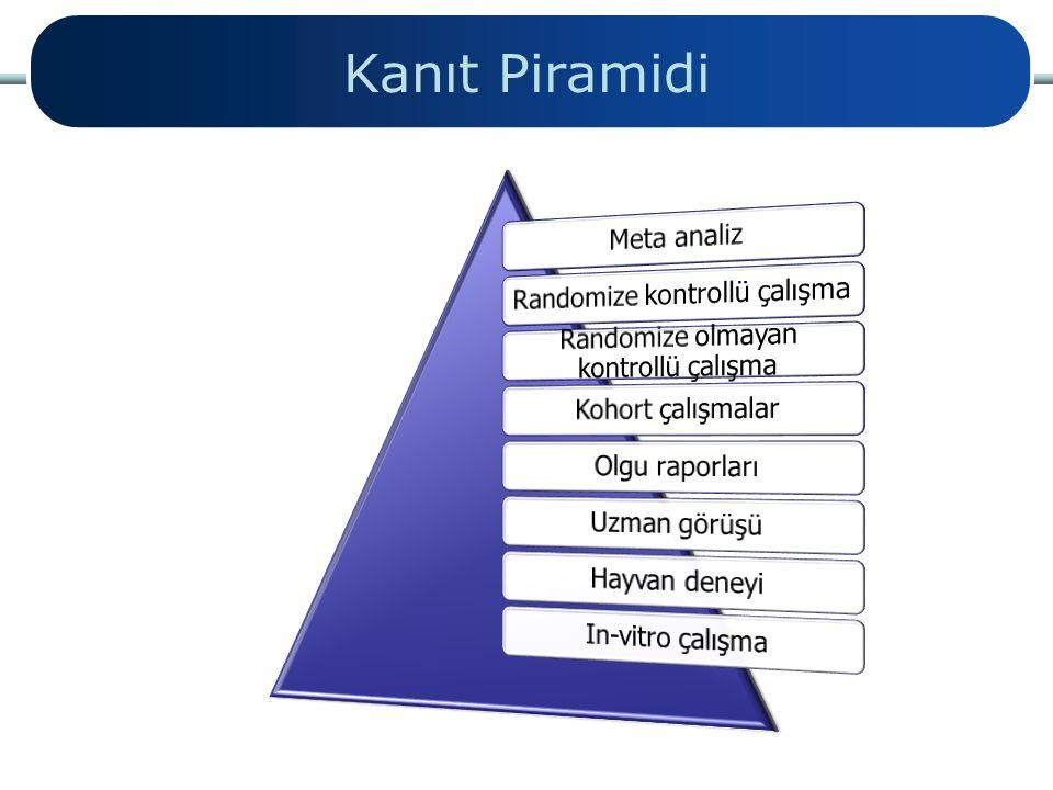 Kanıt Piramidi Meta analiz Randomize kontrollü çalışma