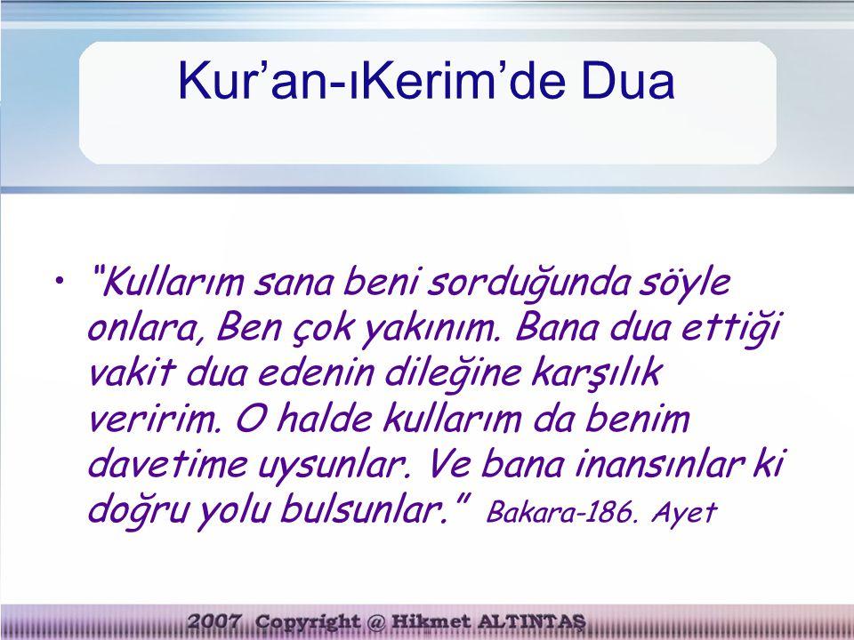 Kur'an-ıKerim'de Dua