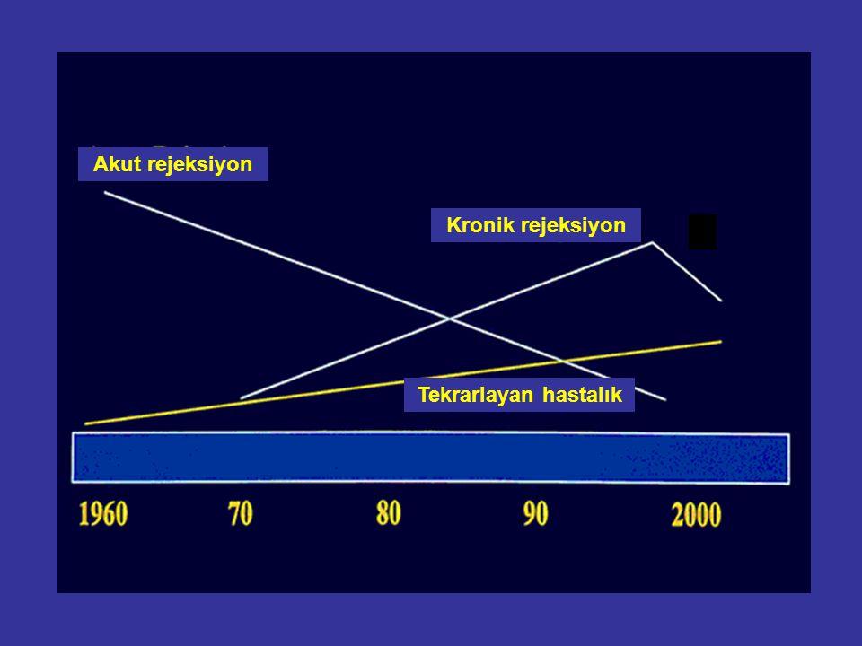 Akut rejeksiyon Kronik rejeksiyon Tekrarlayan hastalık