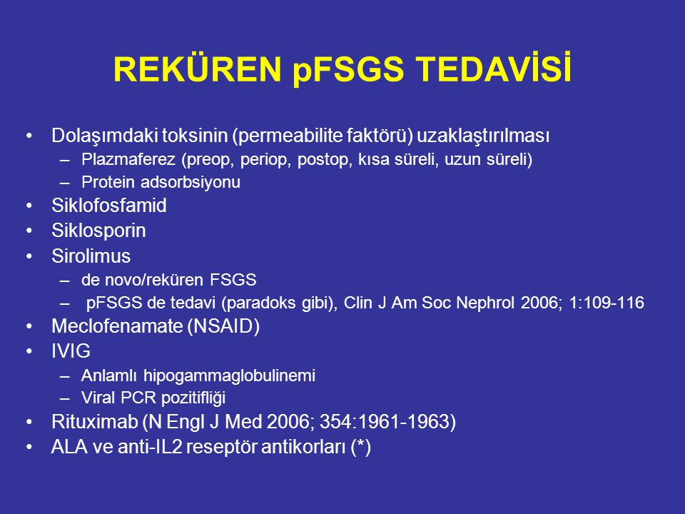 REKÜREN pFSGS TEDAVİSİ