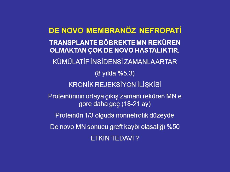 DE NOVO MEMBRANÖZ NEFROPATİ