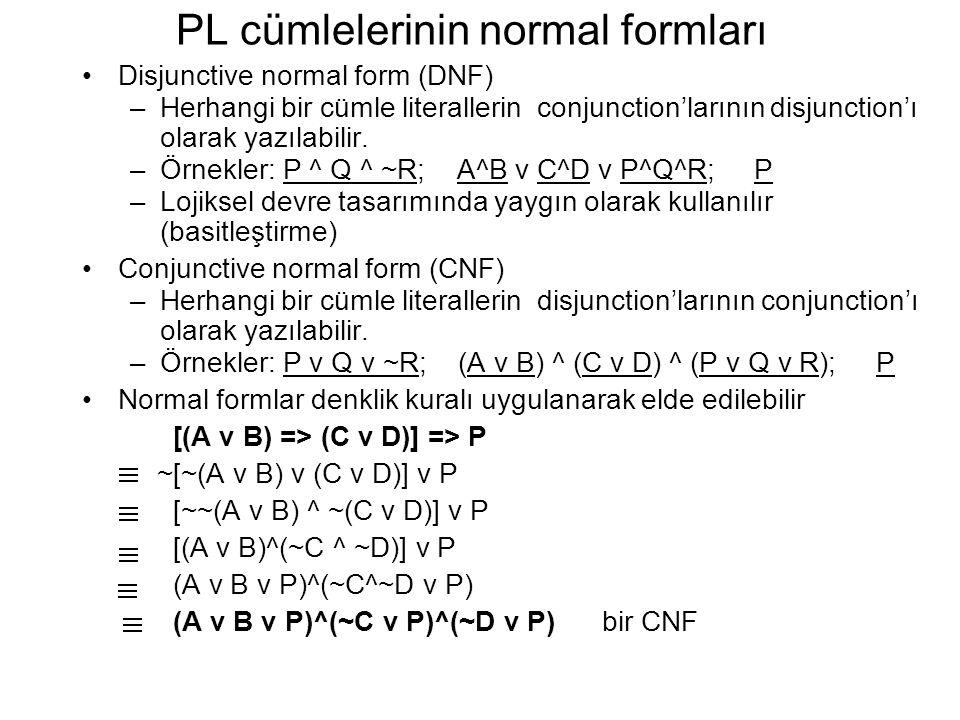 PL cümlelerinin normal formları