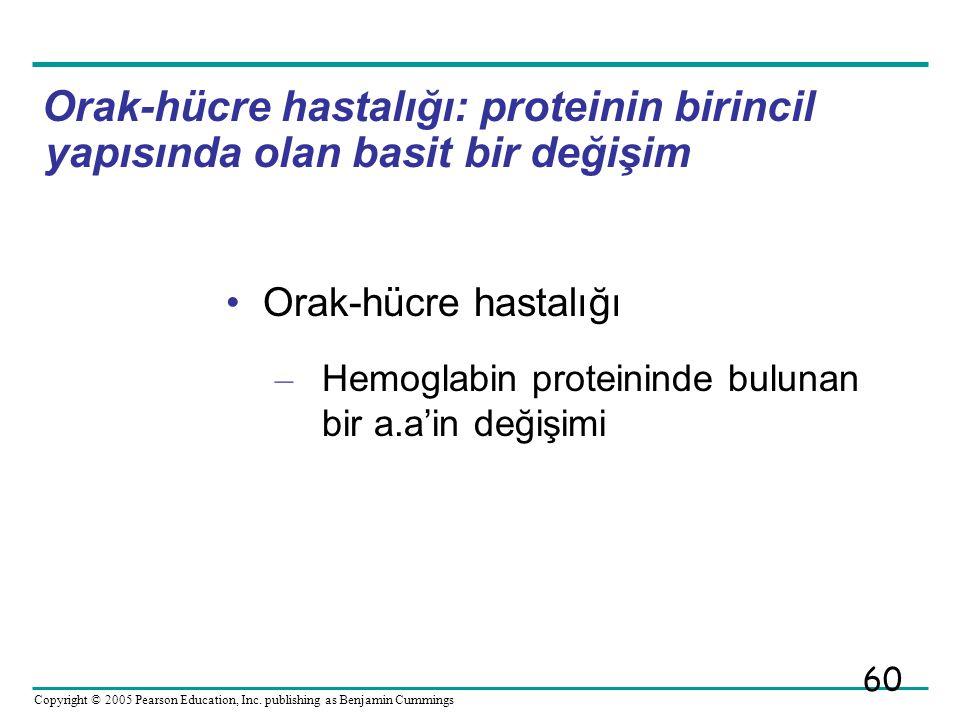 Orak-hücre hastalığı: proteinin birincil yapısında olan basit bir değişim