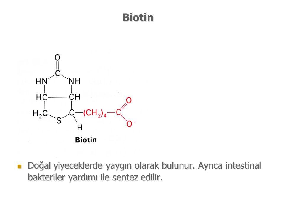 Biotin Doğal yiyeceklerde yaygın olarak bulunur.