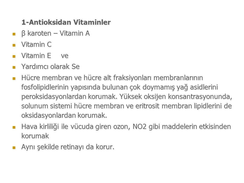 1-Antioksidan Vitaminler