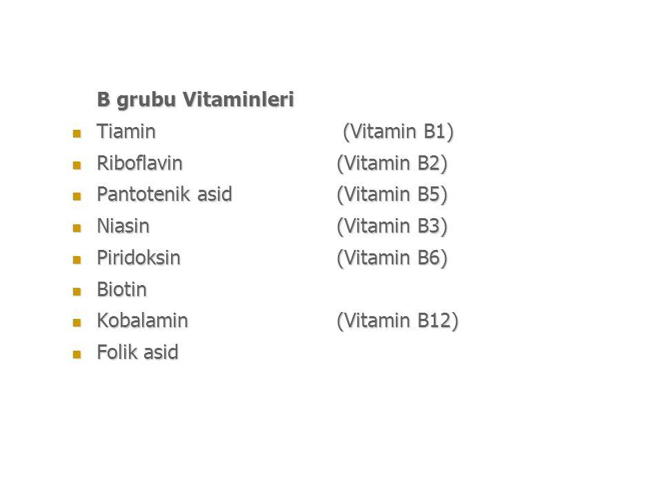 Riboflavin (Vitamin B2) Pantotenik asid (Vitamin B5)