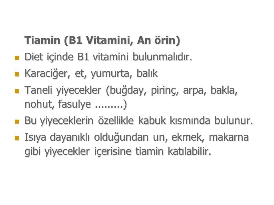 Tiamin (B1 Vitamini, An örin)