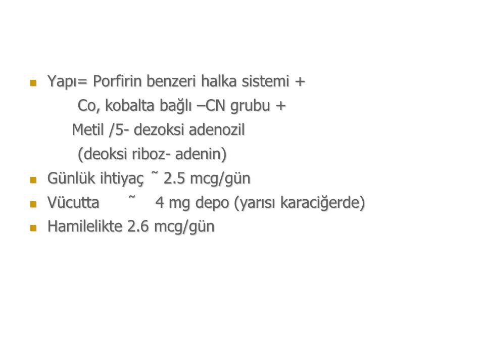 Yapı= Porfirin benzeri halka sistemi +