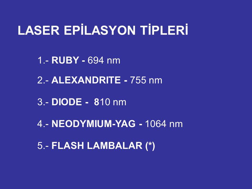 LASER EPİLASYON TİPLERİ