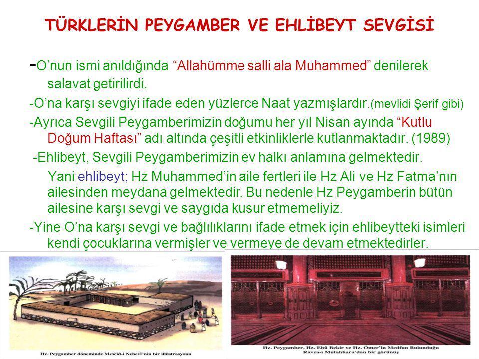 TÜRKLERİN PEYGAMBER VE EHLİBEYT SEVGİSİ
