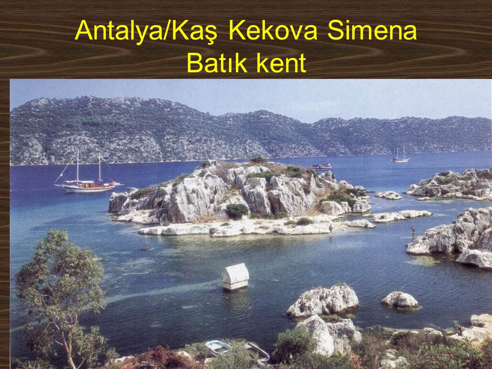 Antalya/Kaş Kekova Simena Batık kent