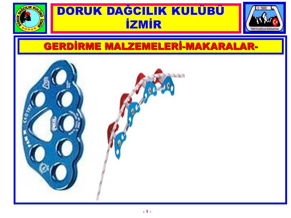 GERDİRME MALZEMELERİ-MAKARALAR-