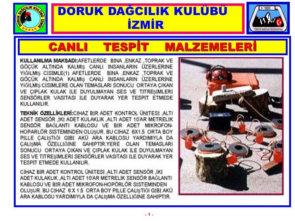 CANLI TESPİT MALZEMELERİ