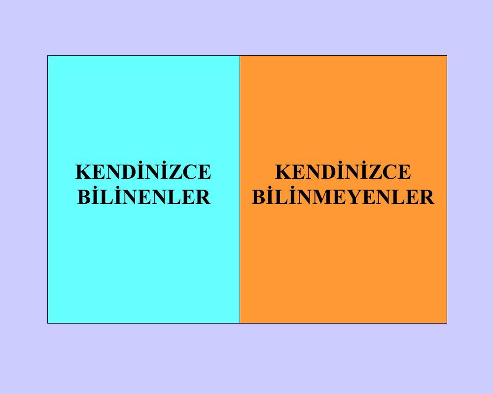KENDİNİZCE BİLİNENLER