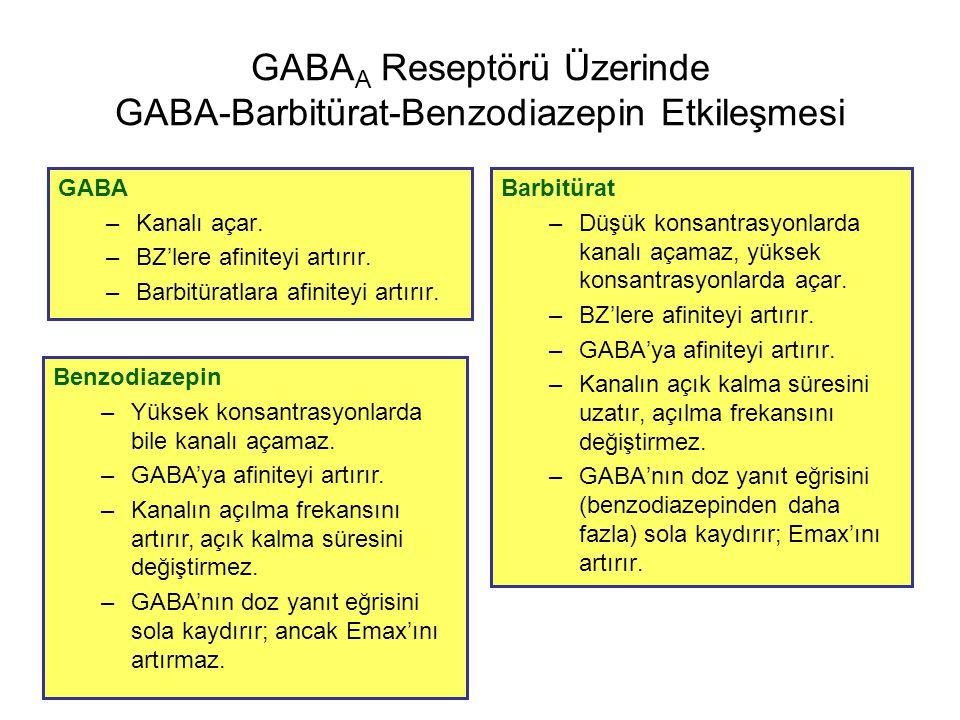 GABAA Reseptörü Üzerinde GABA-Barbitürat-Benzodiazepin Etkileşmesi